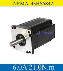 Шаговый двигатель 21N.m ЧПУ CNC NEMA43 43HS5842 6.0 А, фото 2