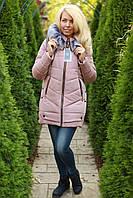 Зимняя куртка женская с мехом теплая с капюшоном