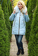 Зимняя куртка женская с мехом теплая