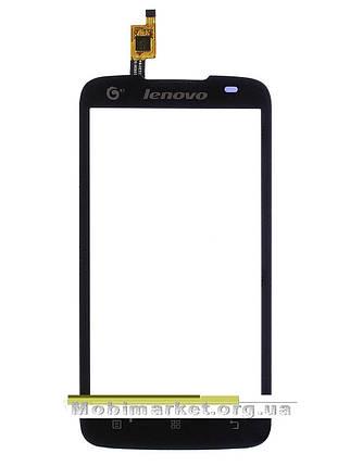 Сенсор (тачскрін) для Lenovo A378 / A378T чорний, фото 2
