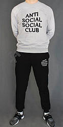 Мужской спортивный костюм Anti Social Social Club черный с серым