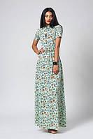 Длинное женское платье с совами