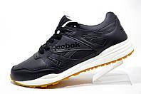 Мужские кроссовки в стиле Reebok Hexalite, кожаные (Black)