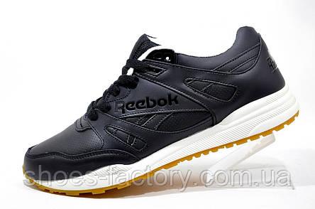 Мужские кроссовки в стиле Reebok Hexalite, кожаные (Black), фото 2