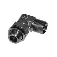 Угловое резьбовое соединение 90° с  контргайкой и уплотнительным кольцом XWEE 1/2 R 1/2 ED A3C