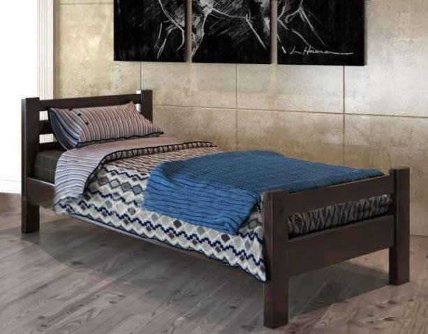Кровать односпальная Элегант-90 (орех темный)