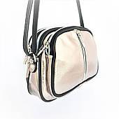 Маленькая сумочка, натур. кожа, Италия, Bronze