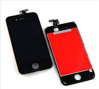 Дисплей iPhone 4S айфон с тачскрином в сборе, цвет черный, копия высокого качества