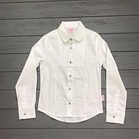 Детская одежда оптом Блуза для девочек белая нарядная оптом р.6 и 12лет