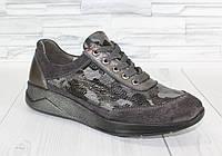 Стильные женские кроссовки в стиле хаки. Натуральная кожа 1148