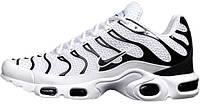 Мужские кроссовки Nike Air Max TN Plus White Black, найк, айр макс
