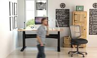 501-11-1B 196: Офисный стол Conset для работы сидя-стоя с электроприводом Bosch грузоподъемностью 150 кг
