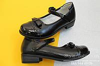Черные туфли на девочку с лакированным носком тм Tom.m р.29,30,33