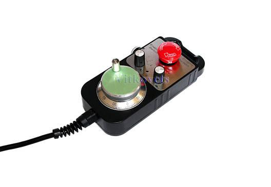 Ручной генератор импульсов MPG100, кнопка E-stop (пульт управления) для станков с ЧПУ, фото 2