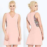 Елегантна рожева сукня з яскравим принтом