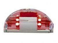 21876 Клипса д\стекляной полки (красный свет) LED DC 12V 2CMD 0.25W хром Китай GIFF