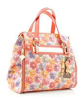 Женская сумка 82449 коралловая в цветы