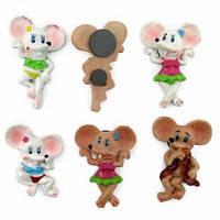 Магниты Мышки керамические разные