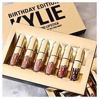 Набор жидких матовых помад 6 в 1 Kylie 8607 Birthday Edition
