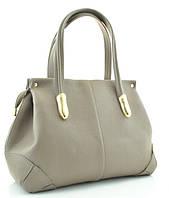 Женская кожаная сумка 2463 темно-бежевая