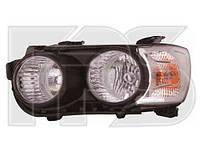 Фара передняя для Chevrolet Aveo '11- левая черный отражатель (DEPO) под электрокорректор