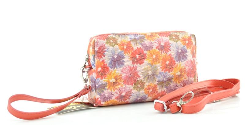 d7305a3572b1 Женская маленька сумочка 82469 коралловая с цветным принтом - mis.ua в Ровно