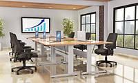 АКЦИЯ! 501-15-7W: Бюджетный компьютерный стол Conset для работы сидя-стоя с электроприводом