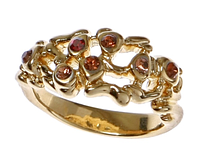 """Кольцо """"Симла"""" с кристаллами Swarovski, покрытое золотом (h851p020)"""