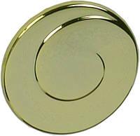 WPO602.030.00GP Ручка мебельная РГ 126 золото глянцевое накладная кнопка - металлическая Италия GIUSTI