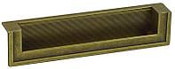 WMN554.128.00D1 Ручка мебельная РГ 129 старое золото врезная 128мм - металлическая Италия GIUSTI