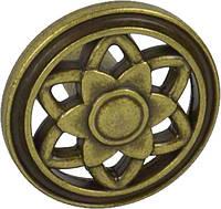 WPO645.035.00D1 Ручка мебельная РГ 224 старое золото накладная 035мм - металлическая Италия GIUSTI