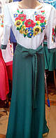Вышитое платье Подсолнух длинное