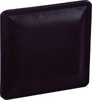 РК357 Ручка мебельная РК-357 кожа черная накладная кнопка - металл+кожа Китай Falso Stile
