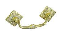 РК169 Ручка мебельная РК-169 золото+белый накладная 064мм - металлическая Китай Falso Stile