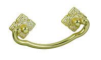 РК170 Ручка мебельная РК-170 золото+белый накладная 064мм - металлическая Китай Falso Stile