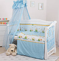 Комплект в кроватку для новорожденных бязь Twins Comfort Медуны