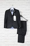 Классический костюм черный подросток.Ammar Турция, 152-176, фото 7