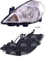 Фара передняя для Nissan Tiida '05- левая (DEPO) под электрокорректор европейская версия