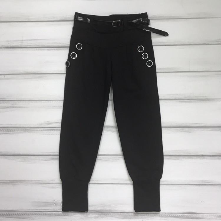Детские брюки черные для девочек Размеры 104-110-116-122