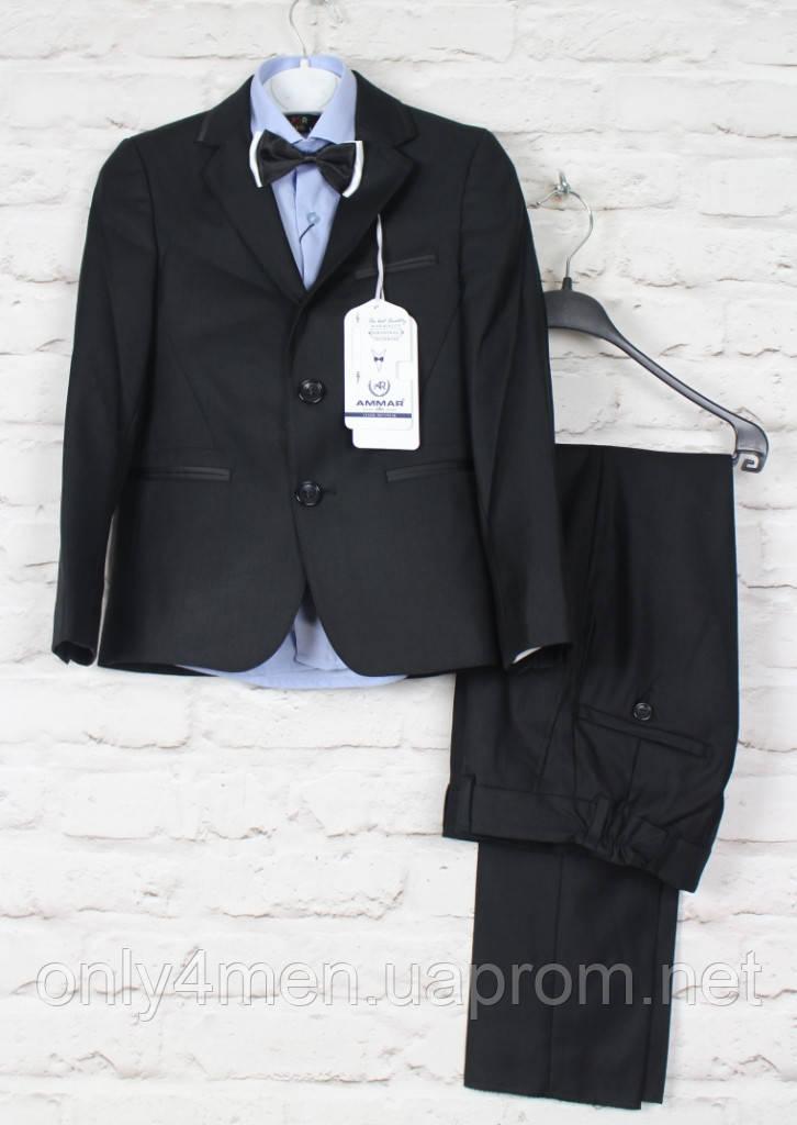 Класичний чорний костюм для хлопчиків.Ammar Туреччина,116-146 см