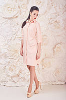 Пудровое Платье Рубашка Франсин Размер 48-52 Ткань: 19. Лён