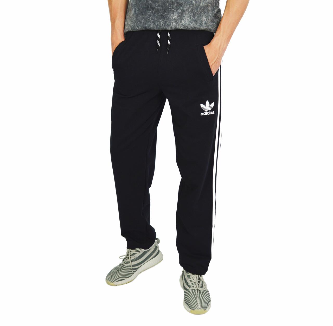 Черные мужские спортивные трикотажные штаны ADIDAS   продажа, цена в ... af459d22eb0
