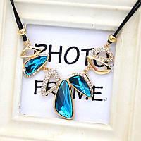 Колье ожерелье женское Aquamarine