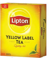 Черный чай Lipton Yellow Label 100 пакетиков, 200 г (Украина)