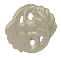 WPO 712.000.00N9 Ручка мебельная РГ 473 жемчужный накладная кнопка - металлическая Италия GIUSTI