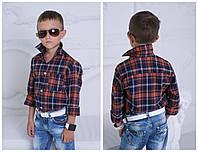 """Рубашка""""Клетка"""" с длинным рукавом, турецкая рубашечная полушерстяная 2 цвета евлад №922"""