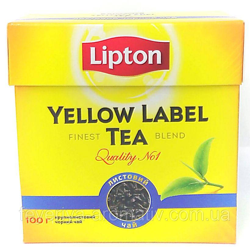 Чай черный листовой Lipton Yellow Label 100 г (Украина)