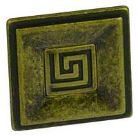 РК535 Ручка мебельная РК-535 старое золото накладная кнопка - металлическая Китай Falso Stile
