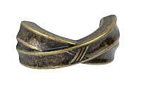 РК712 Ручка мебельная РК-712 старое золото накладная 032мм - металлическая Китай Falso Stile