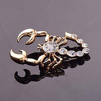 Брошь женская Scorpion